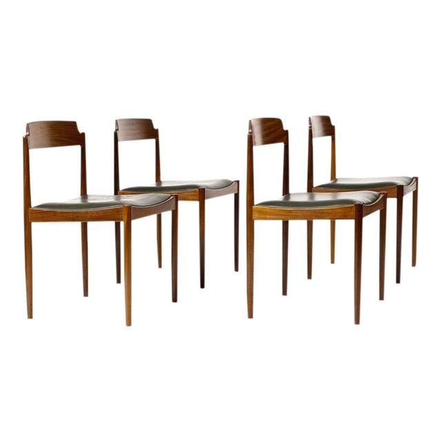 1960s Danish Modern Ib Kofod Larsen for G-Plan Mahogany Dining Chairs - Set of 4 For Sale