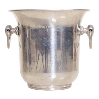 Mid Century Modern Champagne Ice Wine Cooler Bucket, by Argit, France For Sale