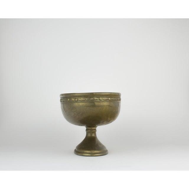 Vintage Brass Pedestal Bowl - Image 3 of 11
