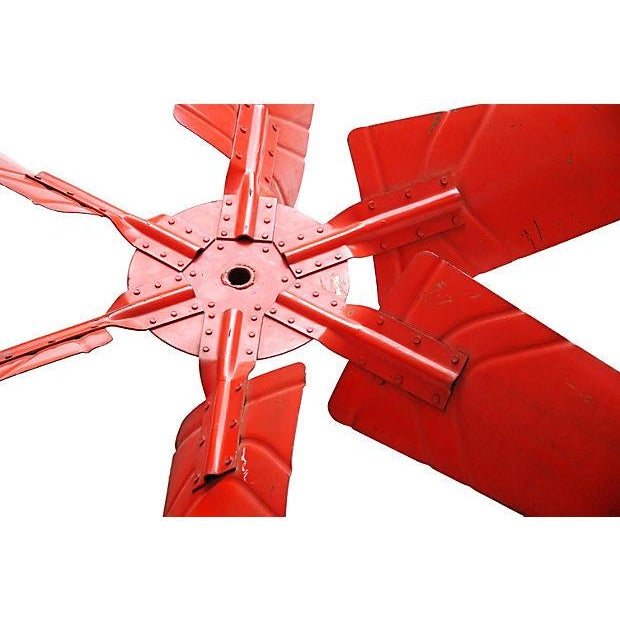 "X-Large 60"" Industrial Orange Propeller - Image 3 of 5"