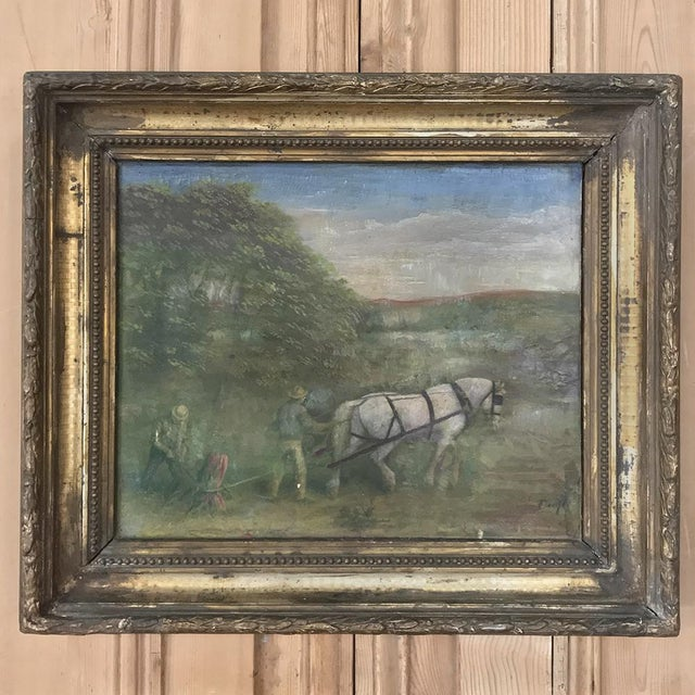 19th Century Framed Oil Painting on Canvas For Sale - Image 13 of 13