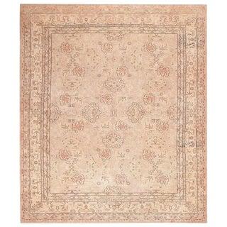 Antique Turkish Oushak Carpet - 14′8″ × 17′3″ For Sale