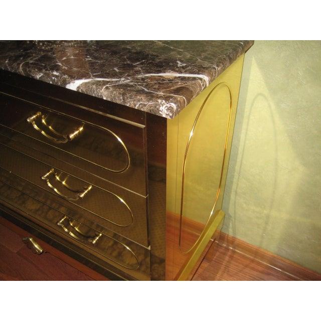 Harden Furniture Vintage Harden Furniture Brass Chest For Sale - Image 4 of 6