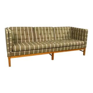 Danish Modern Striped Wool Sofa Designed by Erik Jørgensen For Sale