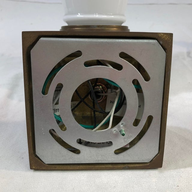Visual Comfort New York Subway Bath Wall Light in Antique Brass For Sale In Washington DC - Image 6 of 11