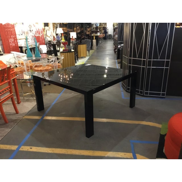 Contemporary Calligaris Italian Black Lacquer Dining Table For Sale - Image 3 of 3