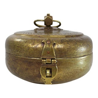 Antique Brass Chipati Box For Sale