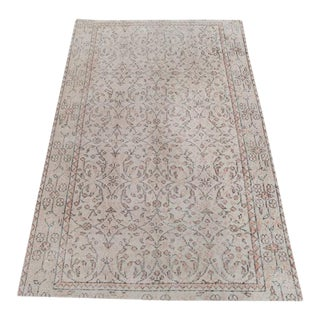 Vintage Distressed Turkish Kaiseri Rug - 3'6''x 5'7'' For Sale