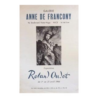 "Mid-Century Original ""Anne De Francony Gallerie"" Poster For Sale"