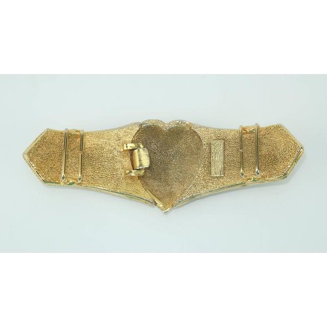 Pink Vintage Accessocraft Nyc Ornate Heart Buckle & Belt For Sale - Image 8 of 11