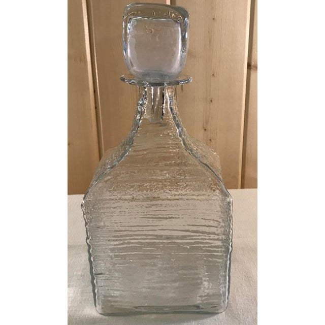 Mid-Century Modern Blown Decanter with Stopper - Image 5 of 9