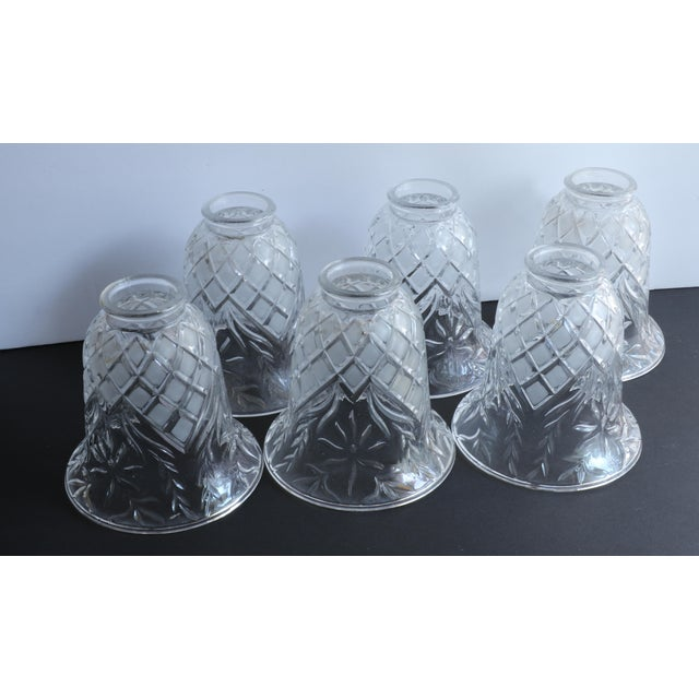 Vintage Cut Glass Light Shade Covers - Set of 6 For Sale - Image 11 of 13