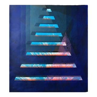 "1970s Abstract Silkscreen ""Pyramid"" j.h. Turner For Sale"
