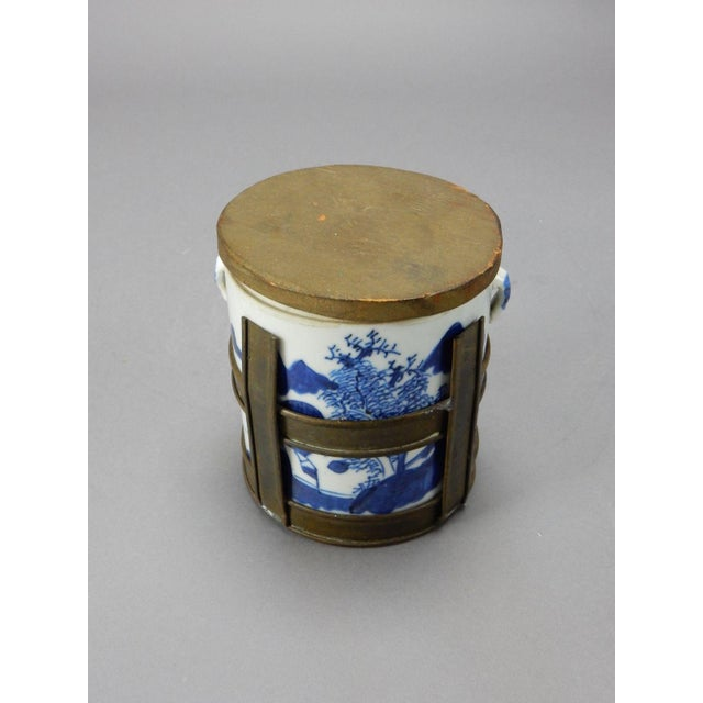Antique Chinese Blue & White Tea/Tobacco Jar For Sale - Image 9 of 11