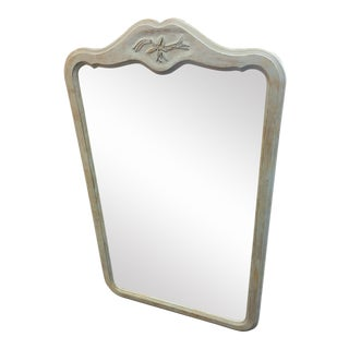 Vintage French Country Wood Mirror For Sale