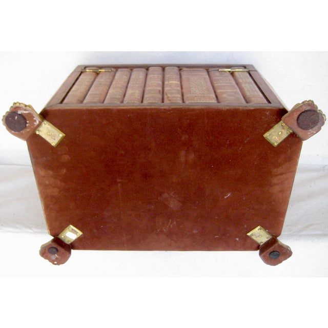 Vintage English Book Leather Box For Sale - Image 9 of 11
