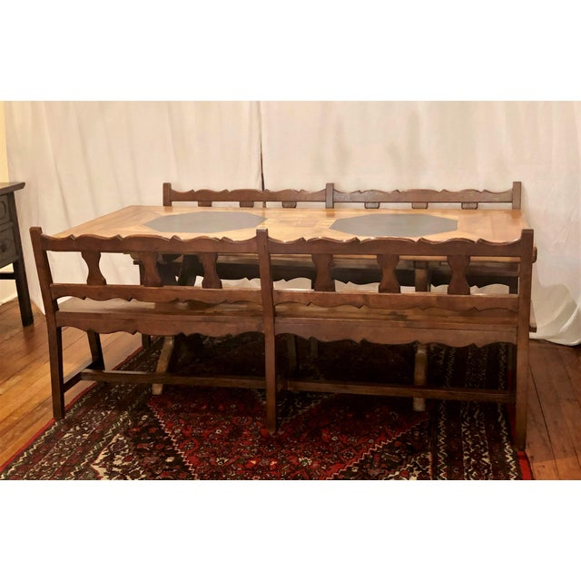 Early 20th Century Antique French Provincial Farm Table From Pyrenees Woodlands, Circa 1910-1920. For Sale - Image 5 of 6