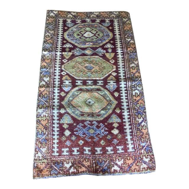 """Bellwether Rugs Vintage Turkish """"Melanie"""" Rug - 5'x2'9"""" For Sale"""