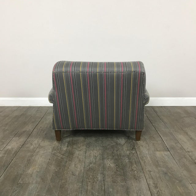 Colorful Striped Club Chair - Image 11 of 11
