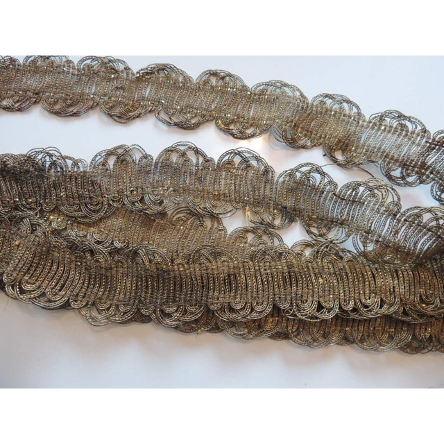 19th Century Scalloped Gold Metallic Woven Decorative Trim