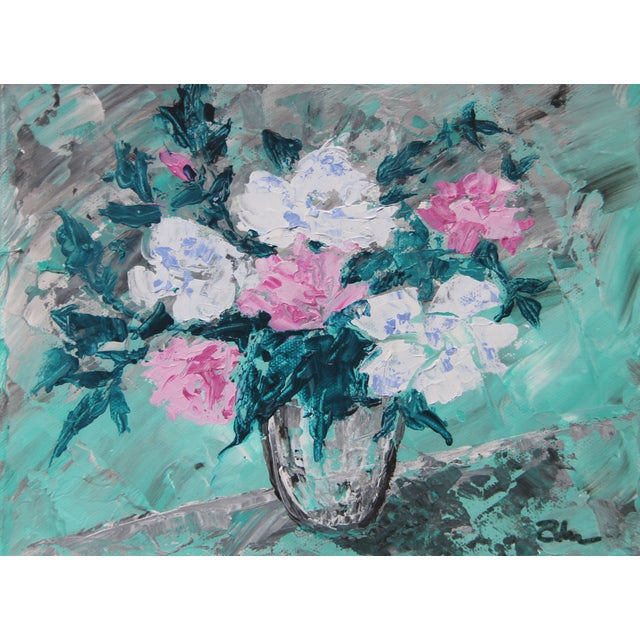 Rose Bouquet #2-Abstract Floral By. C. Plowden - Image 1 of 3