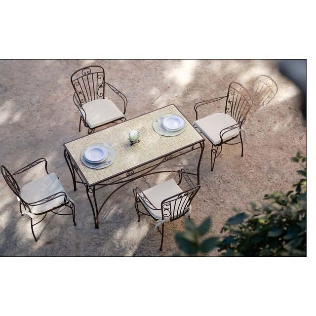 About Pair of two garden chairs in brown wrought iron. Additional Options - Colors : black, shine white, antic white,...
