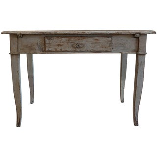 19th Century French Painted Walnut Table For Sale