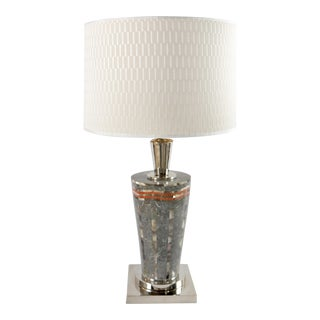 Sintex Table Lamp in Marble & Mother-Of Pearl From Laudarte Srl of Italy