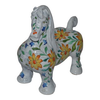 1960s Raymor Mancioli Italian X Large Pottery Horse Sculpture For Sale