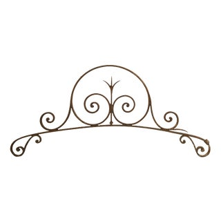Swirled Arched Wrought Iron Pediments - a Pair