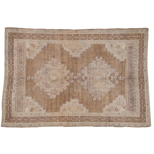 "Vintage Distressed Oushak Carpet - 5'7"" X 8'3"" For Sale - Image 11 of 11"