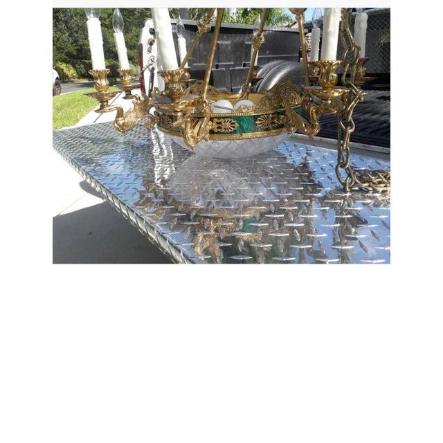 10-Light Brass Swan Chandelier - Image 3 of 4