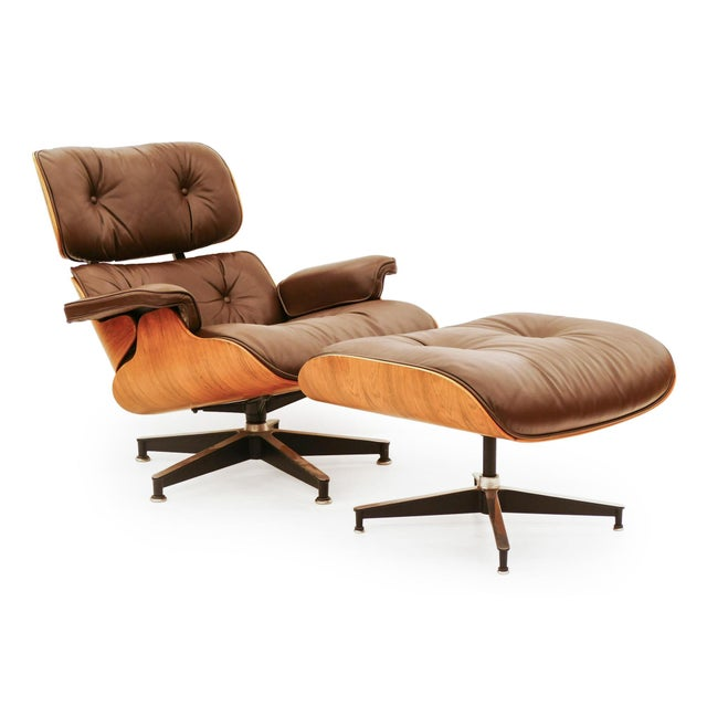 Vintage Rosewood Eams Chair and Ottoman for Herman Miller For Sale In San Francisco - Image 6 of 6