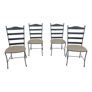 Modern Charleston Forge Iron Dining Chairs- Set of 4 For Sale