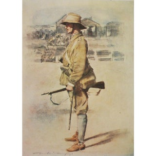 "1901 Mortimer Menpes ""Portrait of Lord Albemarle"", Original Safari Style Antique Lithograph For Sale"