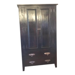 Solid Ebony Wood Cabinet Dresser Storage Armoire