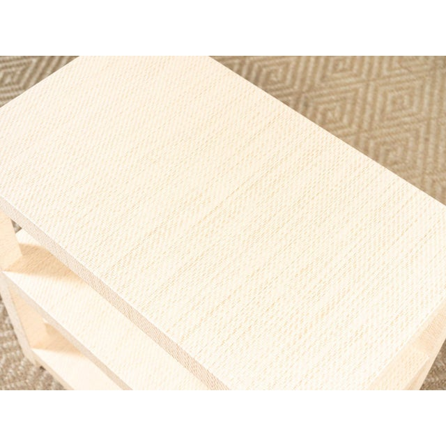 Modern Modern Grasscloth Side Table For Sale - Image 3 of 6