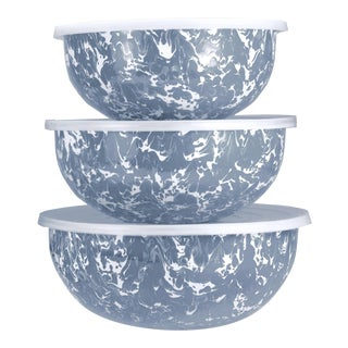 Mixing Bowls Grey Swirl - Set of 3 For Sale
