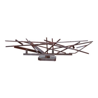 1960s Large Modernist Steel Sculpture For Sale