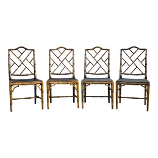 1970s Vintage McGuire Furniture Company Breakfast Room Chairs - Set of 4 For Sale