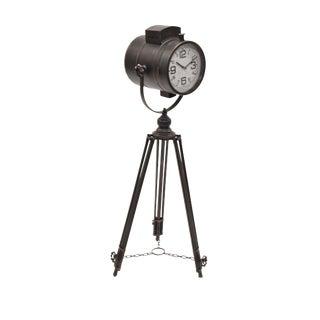 Contemporary Deco Black Clock For Sale