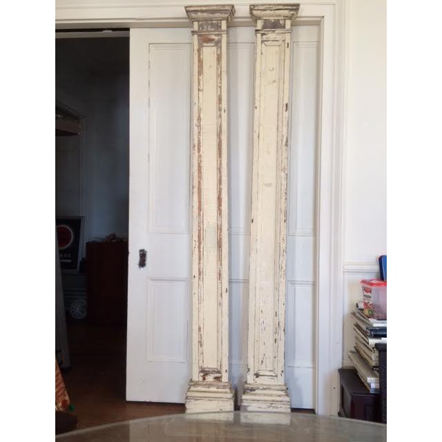 Antique Decorative Architectural Columns - Pair - Image 9 of 9