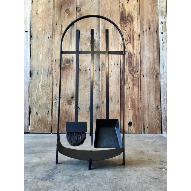 Modernist Wrought Iron Fireplace Tools For Sale - Image 9 of 9