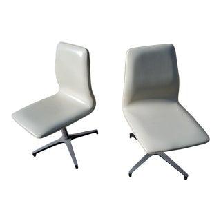 Mid-Century Modern Chromcraft Vinyl Swivel Chairs - a Pair For Sale