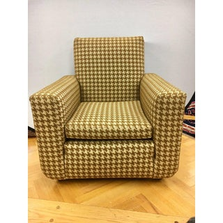Mid Century Modern French Cubist Club Chair Armchair