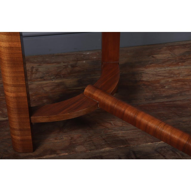 Brown 1930s Art Deco Walnut Folding Tea Table For Sale - Image 8 of 12