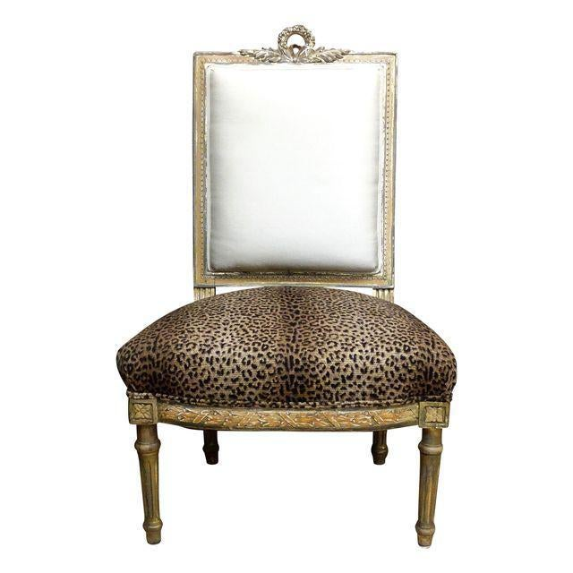 Antique French Slipper Chair - Image 5 of 5