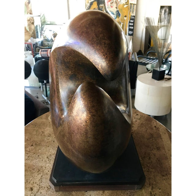 "1970s Jeff Day Abstract 1970s Bronze ""Byte"" For Sale - Image 5 of 10"