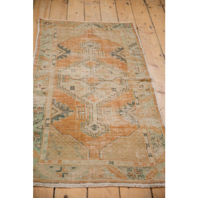 "Old New House Vintage Distressed Oushak Rug Runner - 2'6"" X 5'3"" For Sale - Image 4 of 11"