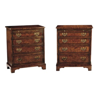 Scarborough House Small Burl Chest of Drawers - Set of 2 For Sale
